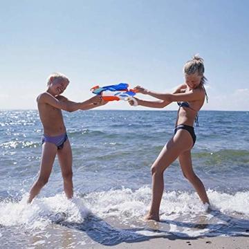 MOZOOSON Wasserpistole Spielzeug für Kinder mit Langer Reichweiter Freezefire für Kinder Mädchen Junge ab 3 Jahr 10-12 Meter Reichweiter 3x300ML für Eiswürfel Geeignet - 2