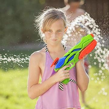 MOZOOSON Wasserpistole Spielzeug für Kinder mit Langer Reichweiter Freezefire für Kinder Mädchen Junge ab 3 Jahr 10-12 Meter Reichweiter 3x300ML für Eiswürfel Geeignet - 3
