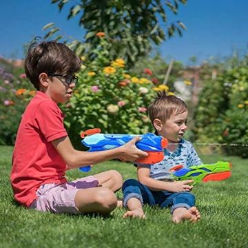 MOZOOSON Wasserpistole Spielzeug für Kinder mit Langer Reichweiter Freezefire für Kinder Mädchen Junge ab 3 Jahr 10-12 Meter Reichweiter 3x300ML für Eiswürfel Geeignet - 4