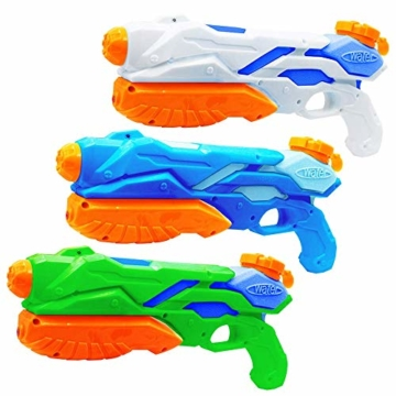 MOZOOSON Wasserpistole Spielzeug für Kinder mit Langer Reichweiter Freezefire für Kinder Mädchen Junge ab 3 Jahr 10-12 Meter Reichweiter 3x300ML für Eiswürfel Geeignet - 1