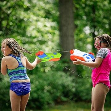 MOZOOSON Wasserpistole Spielzeug für Kinder mit Langer Reichweiter Freezefire für Kinder Mädchen Junge ab 3 Jahr 10-12 Meter Reichweiter 3x300ML für Eiswürfel Geeignet - 5