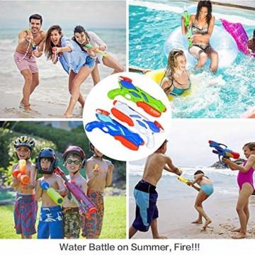 MOZOOSON Wasserpistole Spielzeug für Kinder mit Langer Reichweiter Freezefire für Kinder Mädchen Junge ab 3 Jahr 10-12 Meter Reichweiter 3x300ML für Eiswürfel Geeignet - 6