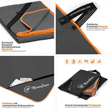 NirvanaShape ® Mikrofaser Handtücher | saugfähig, leicht, schnelltrocknend | Badehandtücher, Reisehandtücher, Sporthandtücher | Ideal für Reisen, Fitness, Yoga, Sauna - 2