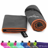 NirvanaShape ® Mikrofaser Handtücher | saugfähig, leicht, schnelltrocknend | Badehandtücher, Reisehandtücher, Sporthandtücher | Ideal für Reisen, Fitness, Yoga, Sauna - 1