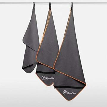 NirvanaShape ® Mikrofaser Handtücher | saugfähig, leicht, schnelltrocknend | Badehandtücher, Reisehandtücher, Sporthandtücher | Ideal für Reisen, Fitness, Yoga, Sauna - 3