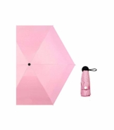 Nmbrella Mini Folding Woman Regenschirm Regen Winddicht 5 Folding Mini Taschenschirm Sunscreen Female Light Weight Portable Trave Pink - 1