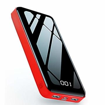 Nuxgal Powerbank 26800mAh Externer Akku LCD Digital Display Ultra Kompakter Batterie Pack 2 Eingängen 2 Ausgängen USB Externes Tragbares Ladegerät Mit für Handy, Tablet und Mehr USB-Gerät - 1
