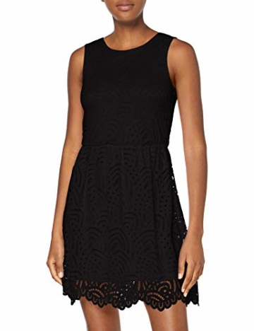 ONLY Damen Onledith S/L Dress JRS Noos Kleid, Schwarz (Black Black), 38 (Herstellergröße: M) - 1