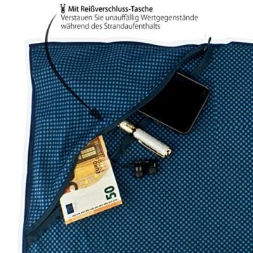 Outdoro Reisehandtuch mit Bambus Kohle Ultra-leicht & saugfähig - komfortabler als Mikrofaser-Handtücher - ideales Sport-Handtuch, Badetuch, Strand-Handtuch, Sauna Towel für Reise & Fitness - 3
