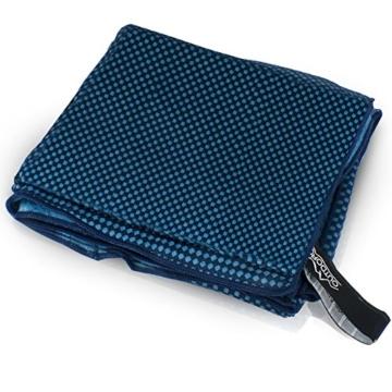 Outdoro Reisehandtuch mit Bambus Kohle Ultra-leicht & saugfähig - komfortabler als Mikrofaser-Handtücher - ideales Sport-Handtuch, Badetuch, Strand-Handtuch, Sauna Towel für Reise & Fitness - 5