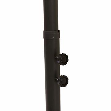Outsunny Doppelsonnenschirm mit Ständer, Sonnenschirm mit Handkurbel, Gartenschirm, Marktschirm, Stahl, Polyester, Beige, 4,6 x 2,7 x 2,4 m - 9