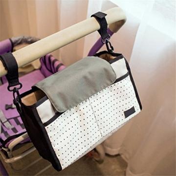 Pro Buggy Organizer Bag Wasserdichte Windel Nappy Fläschchen Aufbewahrungsbeutel mit Haken zum Aufhängen universell passend für alle Baby Kinderwagen - 1