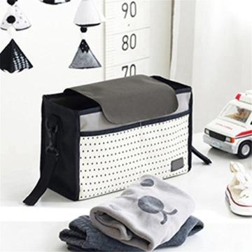 Pro Buggy Organizer Bag Wasserdichte Windel Nappy Fläschchen Aufbewahrungsbeutel mit Haken zum Aufhängen universell passend für alle Baby Kinderwagen - 5