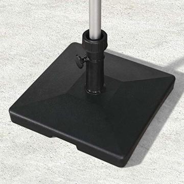 PURPLE LEAF 27 kg Sonnenschirmständer, Quadratisch Schirmständer, umweltfreundliches PE-Gewebe, gefüllt mit Beton - 2