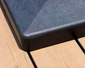 PURPLE LEAF 27 kg Sonnenschirmständer, Quadratisch Schirmständer, umweltfreundliches PE-Gewebe, gefüllt mit Beton - 3