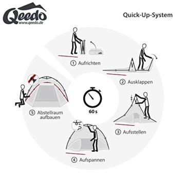 Qeedo Sekundenzelt Quick Oak 3 Personen mit Quick-Up-System - blau - 4