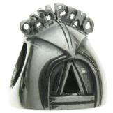 Queenberry Camping-Zelt Charm-Anhänger Sterling-Silber, für Picknick, Reise, Urlaub, für Armbänder von Pandora, Chamilia, Troll, Baigi Charm-Armbänder - 1