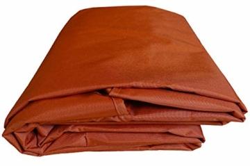 QUICK STAR Ersatzdach Gartenschaukel Universal PASSEND von 110x170cm bis 145x200cm Hollywoodschaukel 3 Sitzer UV 50 Ersatz Bezug Sonnendach Schaukel Terra/Orange - 5