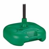 Relaxdays Sonnenschirmständer, befüllbar mit Wasser o. Sand, Stockgrößen 22-38mm, Kunststoff Schirmfuss 44x42 cm, grün - 1