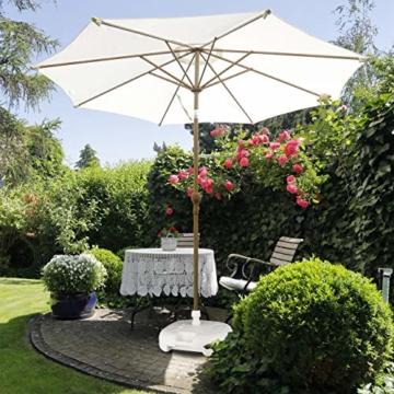 Relaxdays Sonnenschirmständer Kunststoff, befüllbar mit Wasser, Sand, Stockgrößen 25-32mm, 43x43 cm,hell-grau - 2