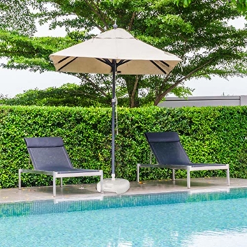 Relaxdays Sonnenschirmständer Kunststoff, befüllbar mit Wasser, Sand, Stockgrößen 25-32mm, 43x43 cm,hell-grau - 3