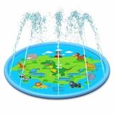 Romote Sprinkler Spritzschutz Großer Spritzschutz Wasserspielmatte Aufblasbares Kissen Aufblasbare Wasserrutsche Wasserspielzeug Wasserspielzeug im Freien 170CM - 1