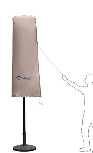 Sekey Schutzhülle für DoppelSonnenschirm, Abdeckhauben für Sonnenschirm,100% Polyester, Taupe - 160cm x 40 x 60cm - 2