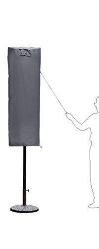 Sekey Schutzhülle für Sonnenschirm, Abdeckhauben für Sonnenschirm,160cm× 62cm, grau - 2