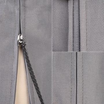 Sekey Schutzhülle für Sonnenschirm, Abdeckhauben für Sonnenschirm,160cm× 62cm, grau - 4