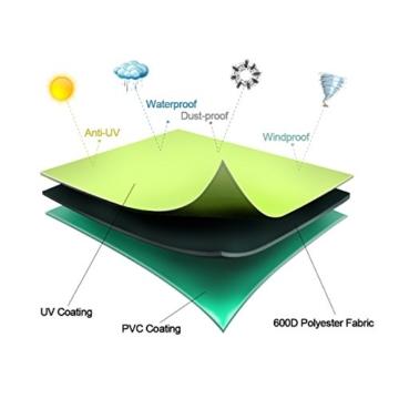 Sekey Schutzhülle für Sonnenschirm, Abdeckhauben für Sonnenschirm,160cm× 62cm, grau - 8