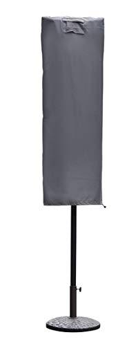 Sekey Schutzhülle für Sonnenschirm, Abdeckhauben für Sonnenschirm,160cm× 62cm, grau - 1