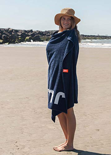 S< Strandtuch mit Name - personalisierte Bedrucking - XXL Saunatuch - Strandtuch 100x200 aus Baumwolle (Dunkelblau) - 4