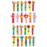 """small foot 7760 Wäscheklammer-Set """"Tiere"""" aus buntem Holz, Spielzeug für Kinder, 24 Einheiten, ab 3 Jahren - 1"""