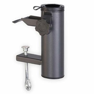Smartweb Balkon Schirmständer Schirmhalter Sonnenschirmhalter Universal Sonnenschirm 70mm - 2