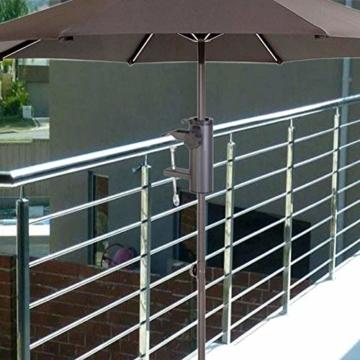 Smartweb Balkon Schirmständer Schirmhalter Sonnenschirmhalter Universal Sonnenschirm 70mm - 3