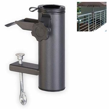 Smartweb Balkon Schirmständer Schirmhalter Sonnenschirmhalter Universal Sonnenschirm 70mm - 1