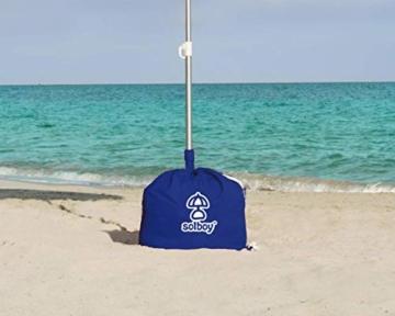 SOLBOY - Der Sonnenschirmhalter, innovativer Schirmständer für den Strandschirm (SONDEREDITION BLAU). Hochwertige… - 1