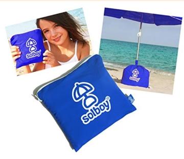 SOLBOY - Der Sonnenschirmhalter, innovativer Schirmständer für den Strandschirm (SONDEREDITION BLAU). Hochwertige… - 3