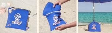 SOLBOY - Der Sonnenschirmhalter, innovativer Schirmständer für den Strandschirm (SONDEREDITION BLAU). Hochwertige… - 4