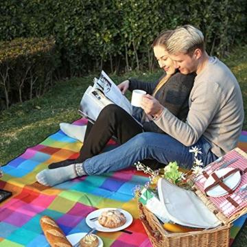 SONGMICS 195 x 150 cm Picknickdecke Fleece wasserdicht GCM61C - 9