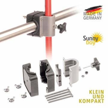 Sonnenschirmhalter Balkongeländer - Sunnyboy, der Kleine - Platzsparender Balkon Schirmhalter für Sonnenschirme mit Schirmstock Ø bis 25mm - Made in Germany - 3