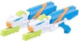 Speeron Wasserspritzpistole: 2er-Set XL-Kinder-Wasserpistolen mit extra-großem Wassertank, 850 ml (Spritzpistole Kinder) - 1