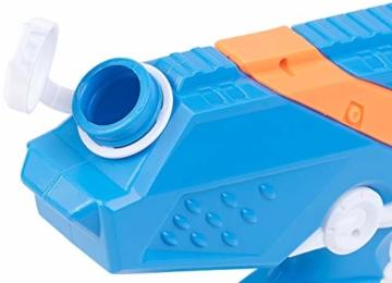 Speeron Wasserspritzpistole: 2er-Set XL-Kinder-Wasserpistolen mit extra-großem Wassertank, 850 ml (Spritzpistole Kinder) - 3