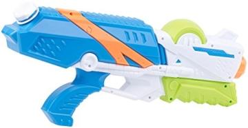 Speeron Wasserspritzpistole: 2er-Set XL-Kinder-Wasserpistolen mit extra-großem Wassertank, 850 ml (Spritzpistole Kinder) - 4