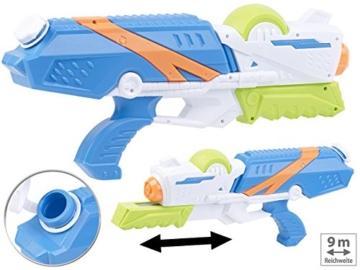 Speeron Wasserspritzpistole: 2er-Set XL-Kinder-Wasserpistolen mit extra-großem Wassertank, 850 ml (Spritzpistole Kinder) - 5