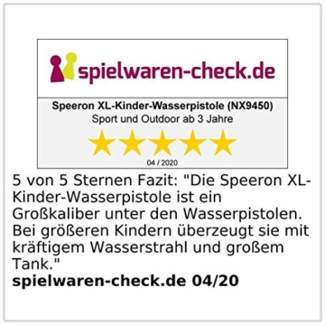 Speeron Wasserspritzpistole: 2er-Set XL-Kinder-Wasserpistolen mit extra-großem Wassertank, 850 ml (Spritzpistole Kinder) - 6