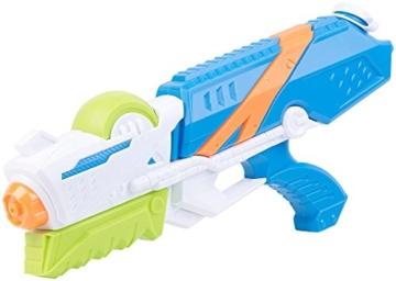 Speeron Wasserspritzpistole: 2er-Set XL-Kinder-Wasserpistolen mit extra-großem Wassertank, 850 ml (Spritzpistole Kinder) - 7
