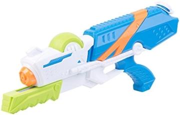 Speeron Wasserspritzpistole: 2er-Set XL-Kinder-Wasserpistolen mit extra-großem Wassertank, 850 ml (Spritzpistole Kinder) - 8