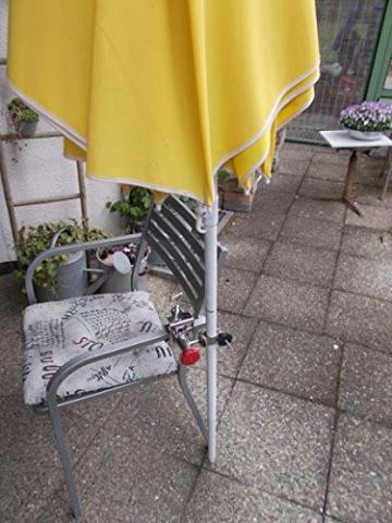 STABIELO NEU - 1 x schirmhalter Balkon - für Schirmstöcke bis 38 mm Ø - 360 ° drehbar - Polierter Edelstahl - V4A - Rostfrei - Seewasserfest - Säurebeständig - antimagnetisch - - 9