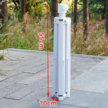 Stahl Sonnenschirmhalter Balkonschirmständer Schirmständer Sonnenschirmständer für 22-25 mm Stangen - 5